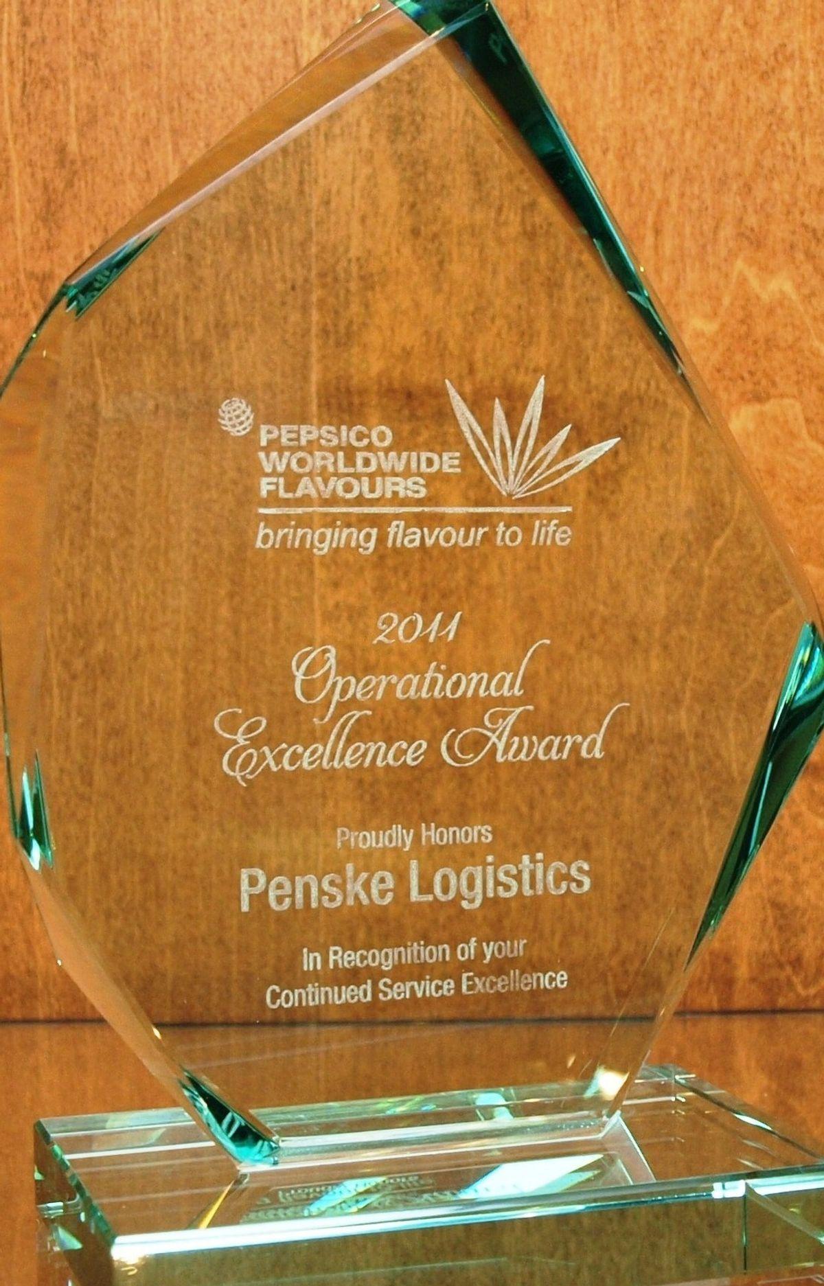 Penske Earns Excellence Award for Transportation Management