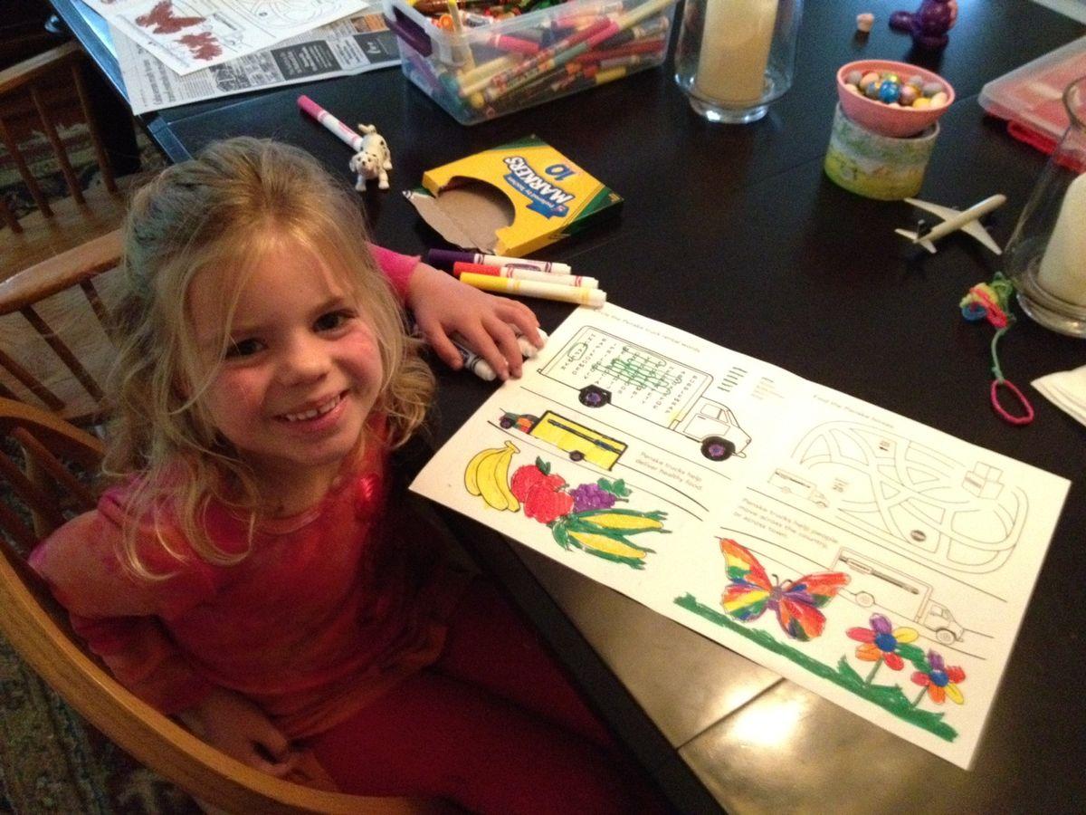 Download the Penske Truck Rental Coloring Book for Kids
