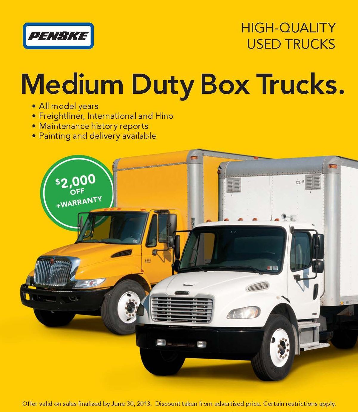 Penske Offering $2,000 Discount on Medium-Duty Box Truck Purchases
