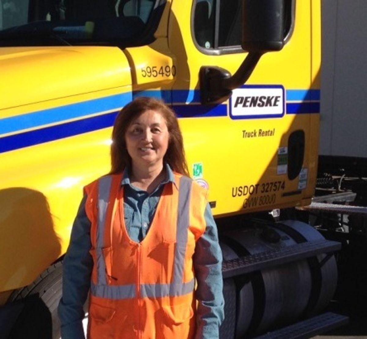 Penske Logistics Driver Enjoys the Scenic Route