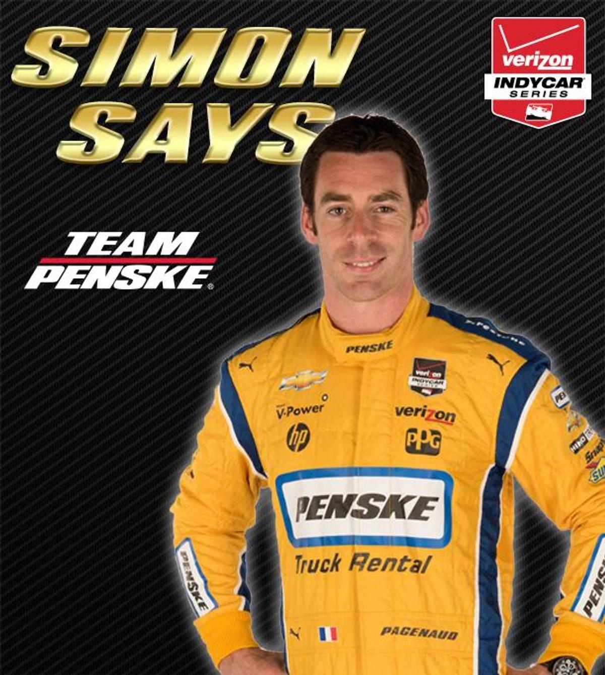 Simon Pagenaud Racing in Penske Truck Rental IndyCar in 2015