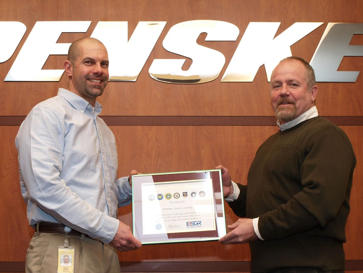Penske Recognized for Support of Guard and Reserve
