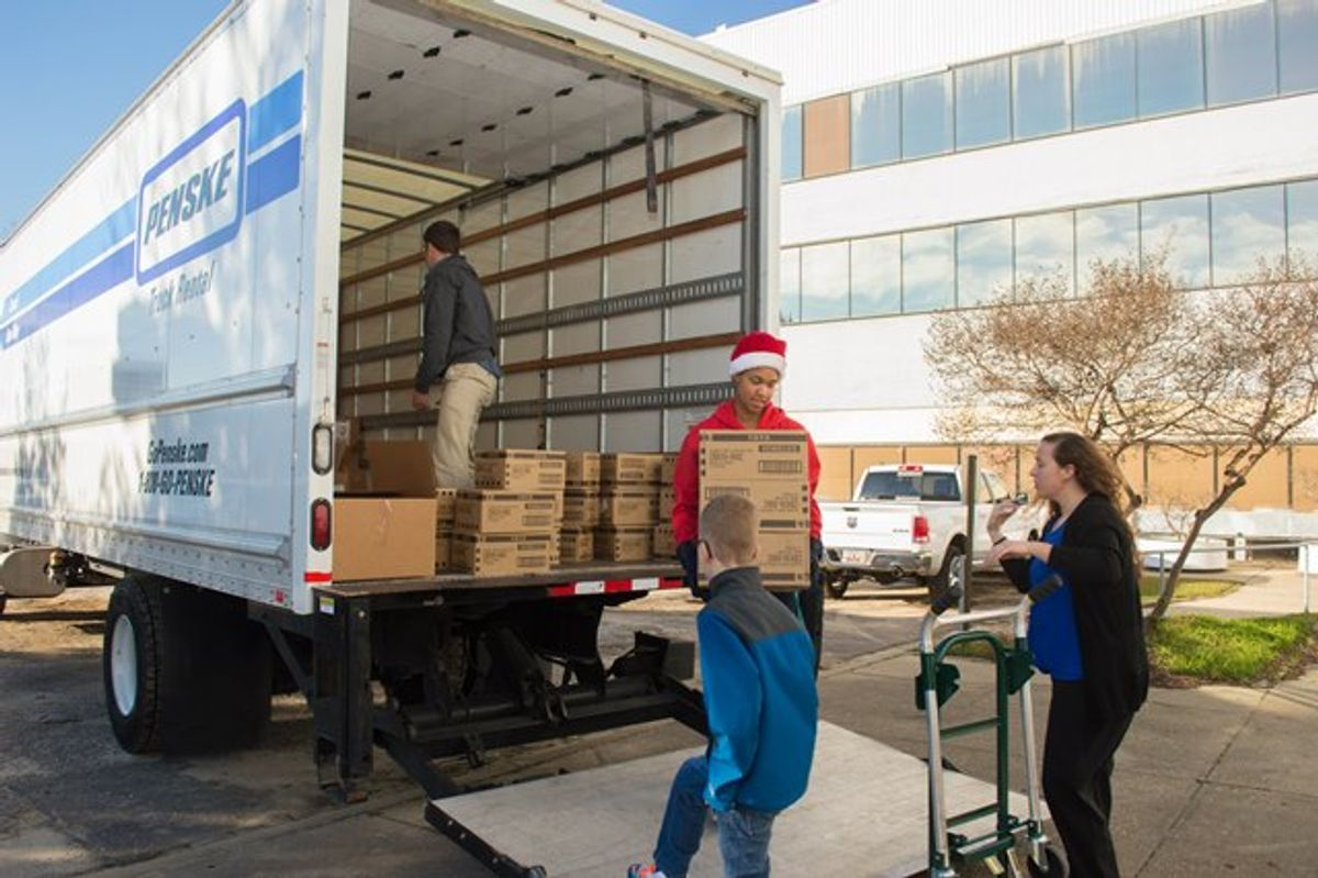 Penske Helps Deliver Smiles to Military Spouses and Children