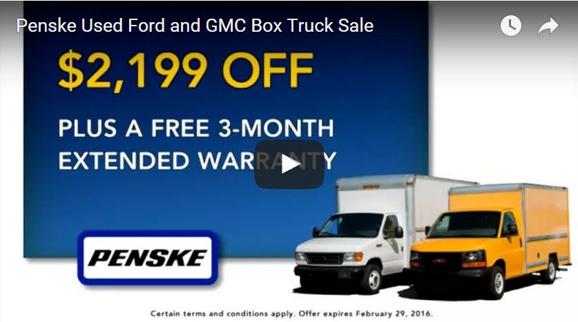 Penske Used Ford and GMC Box Truck Sale