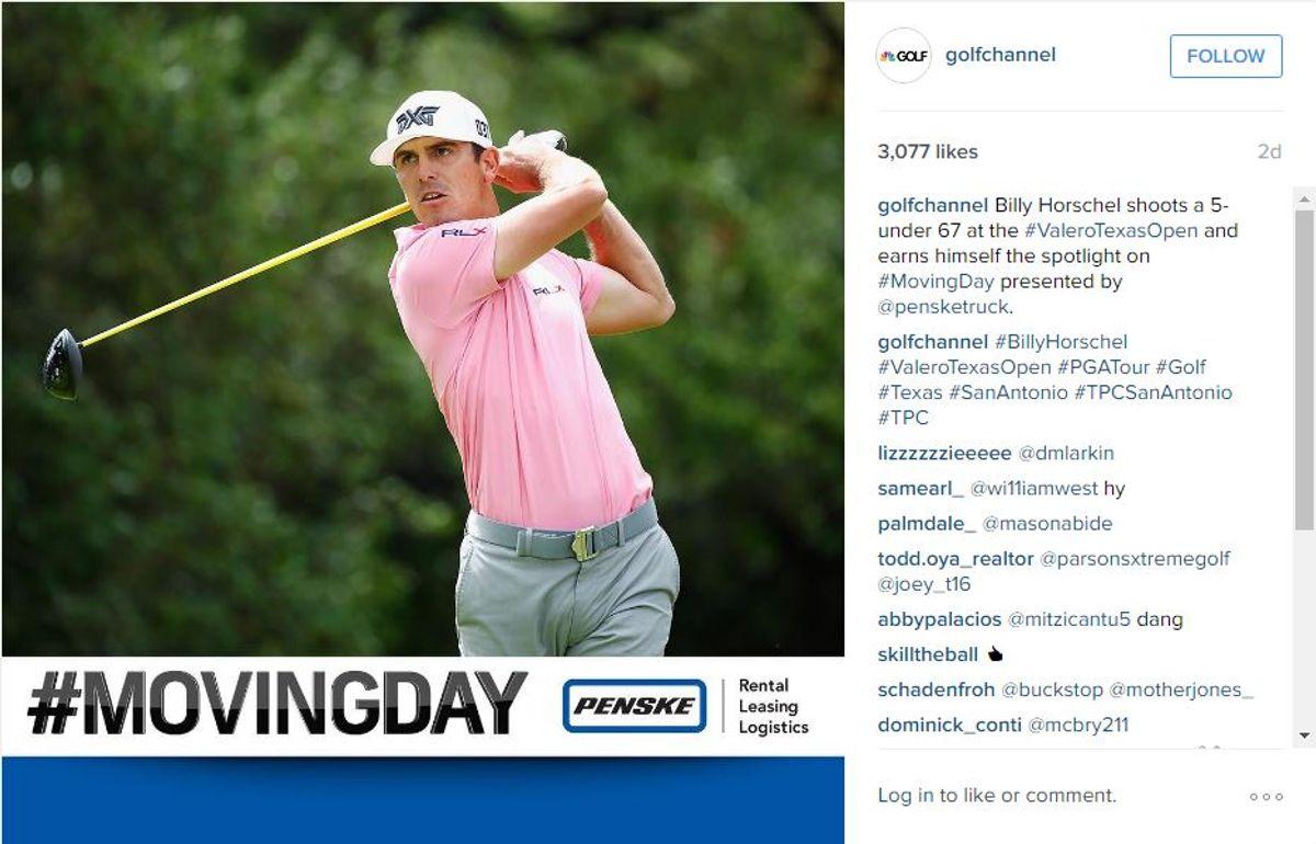 Penske and Golf Channel Activate Multi-Platform Branding Campaign