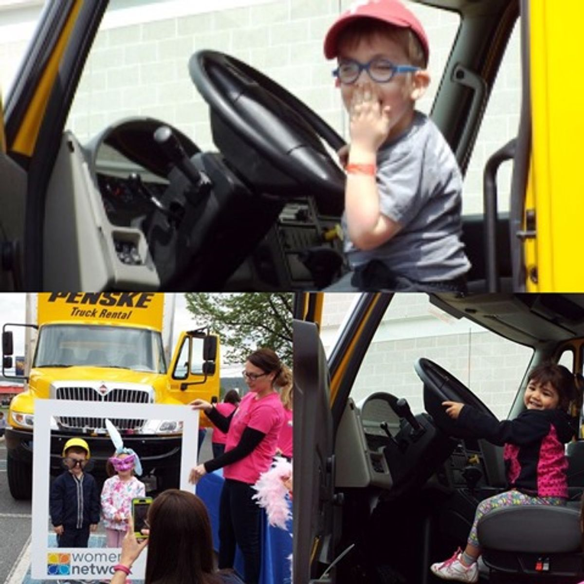 Penske Women's Network Lends a Hand at Touch-A-Truck Event