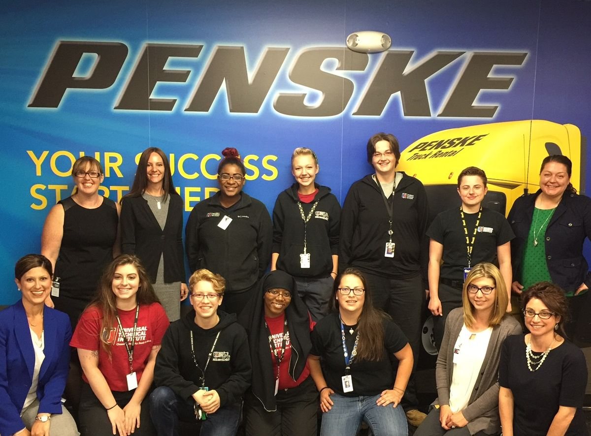Penske Truck Leasing Encourages Female Truck Technicians to Enter Industry at UTI Exton Event