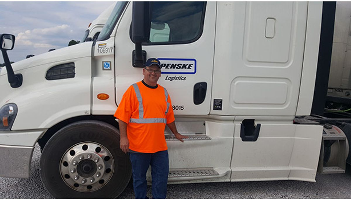 Heroic Action by Penske Logistics Driver Saves a Life