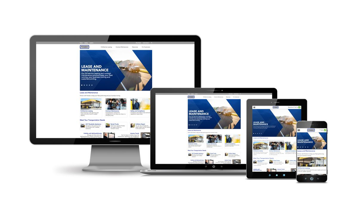 Penske Truck Leasing Introduces New Mobile-Friendly Website and Online Resource Center