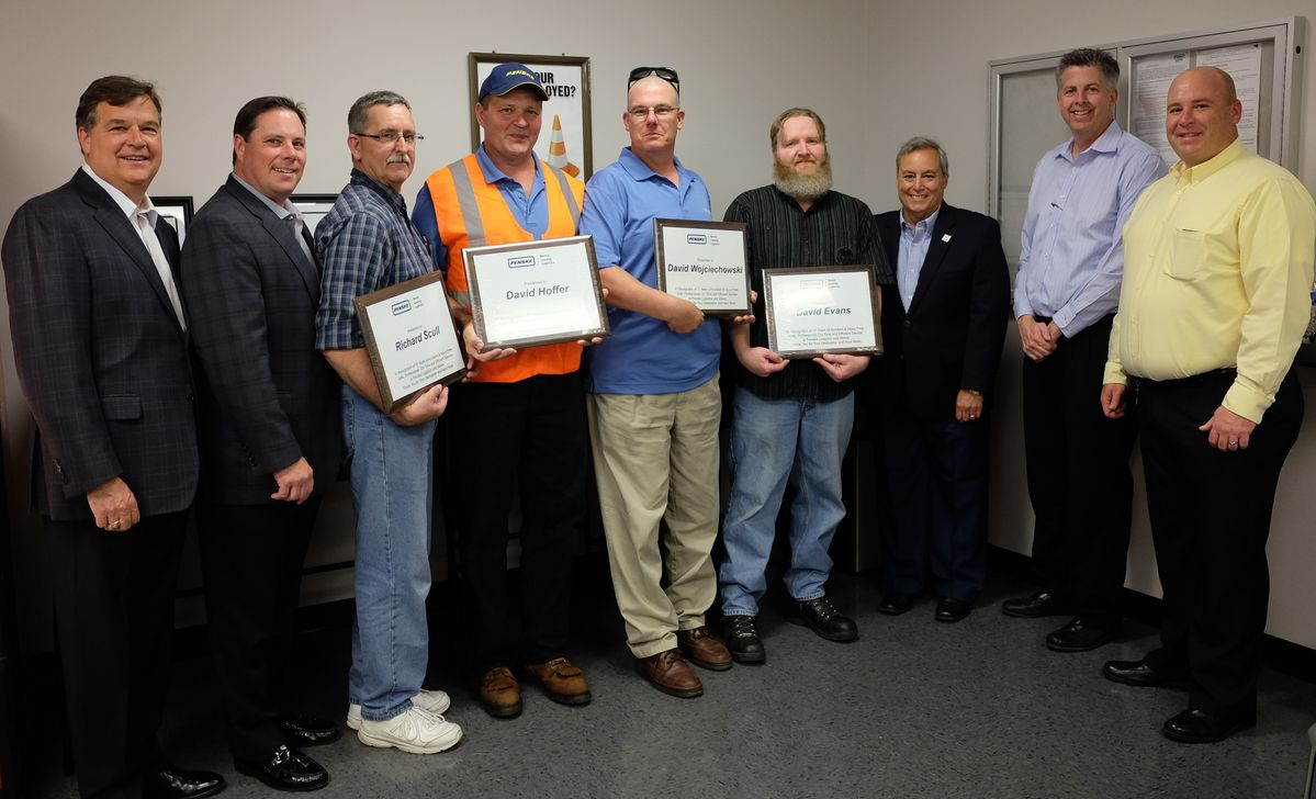 Penske Logistics Drivers Chart Exemplary Safety Course
