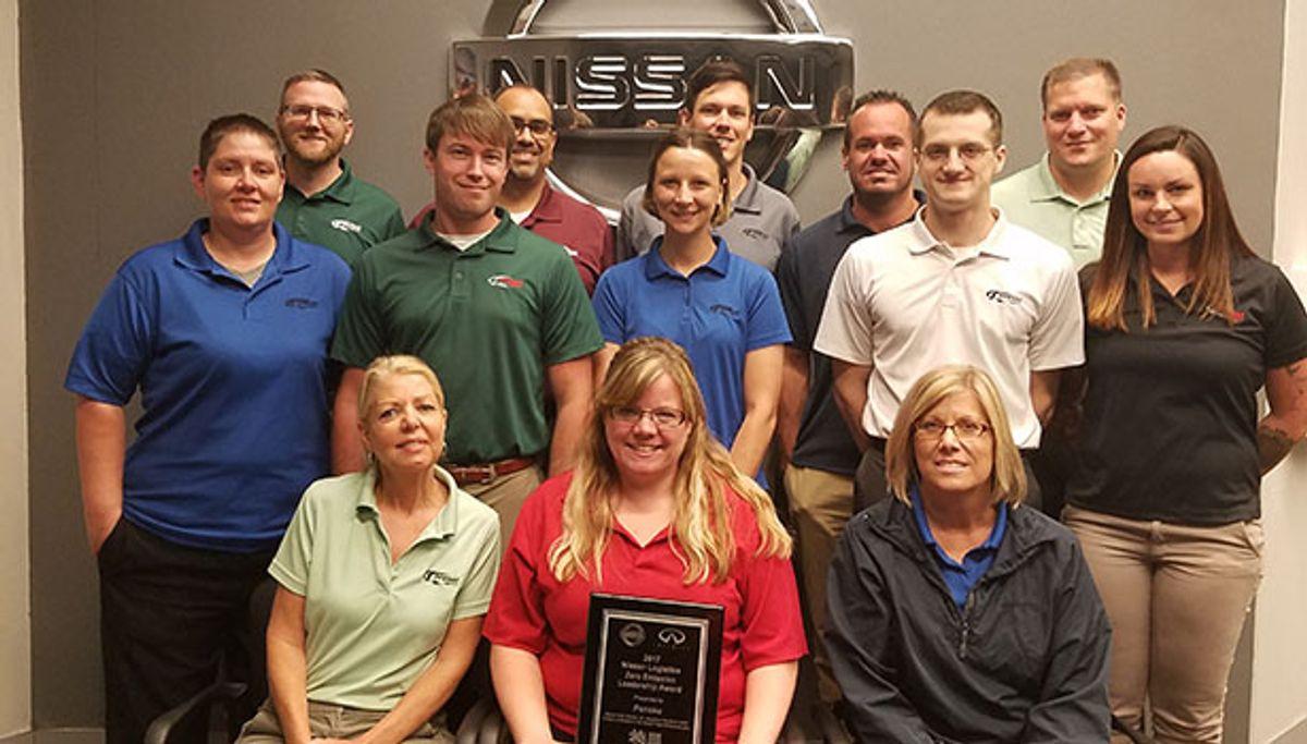 Nissan Honors Penske Logistics with Zero Emission Leadership Award