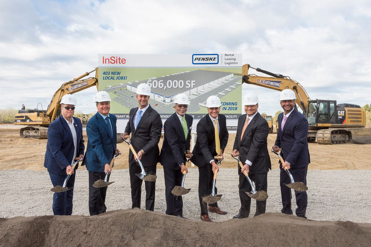 Penske Logistics Breaks Ground on New Distribution Center in Romulus, Michigan