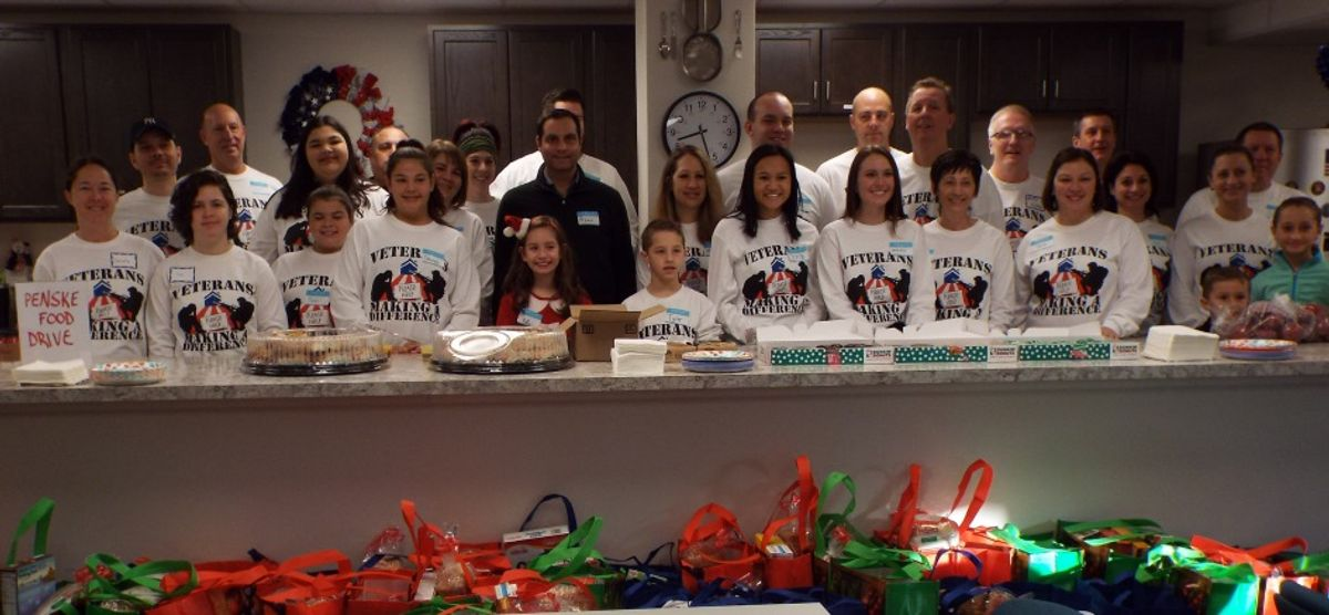 Penske Food Drive Benefits Pennsylvania Veterans