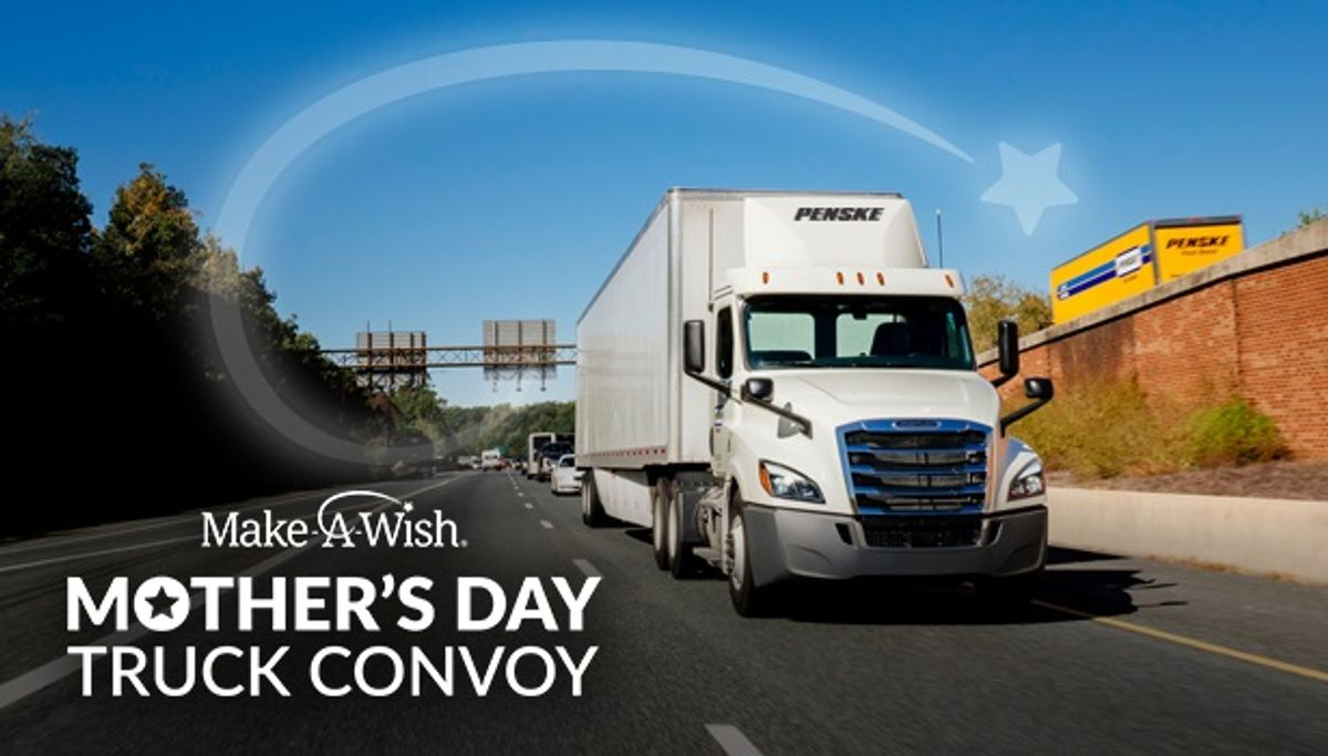 Penske Joins with Mother's Day Convoy to help Grant 50 Wishes