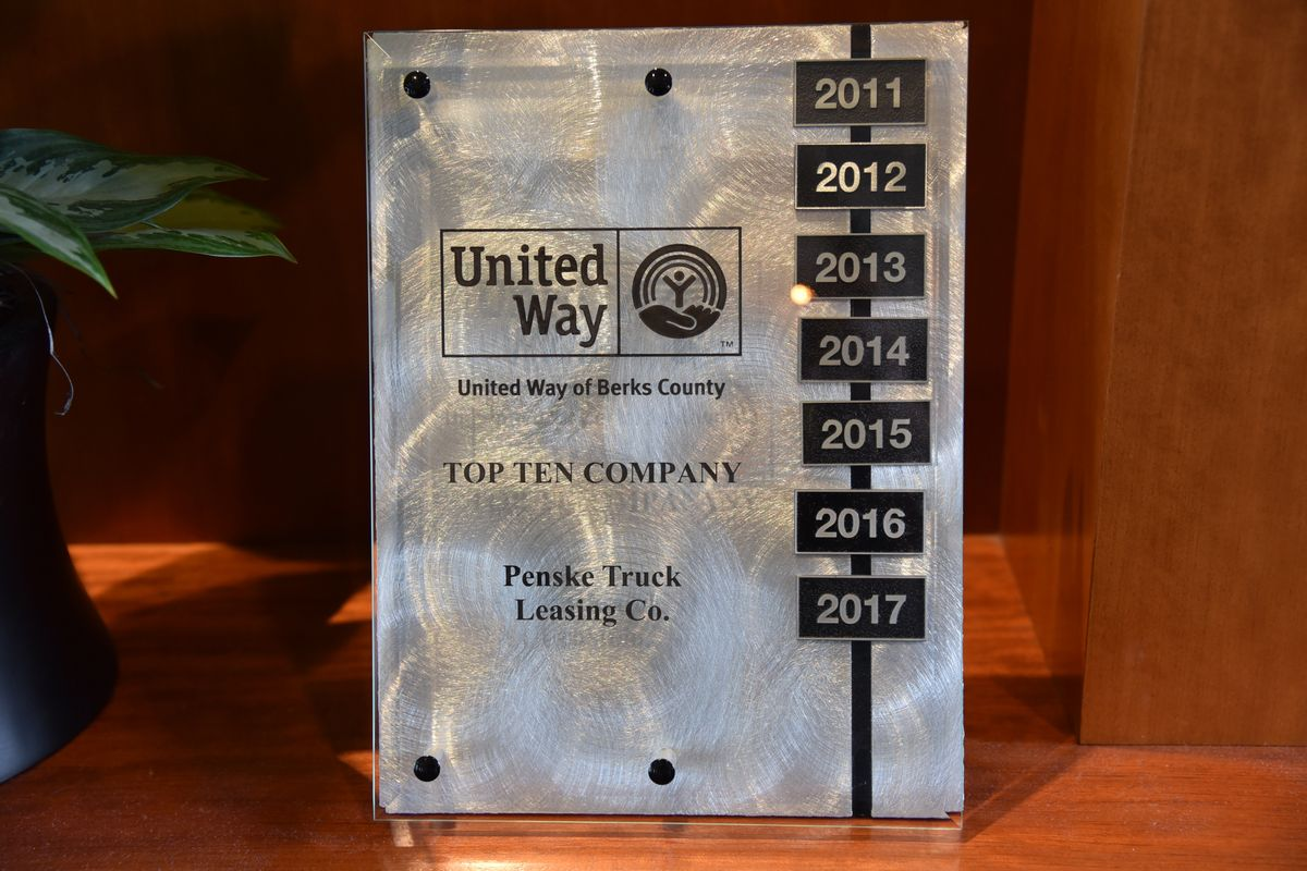 United Way Recognizes Penske with Presidential Award