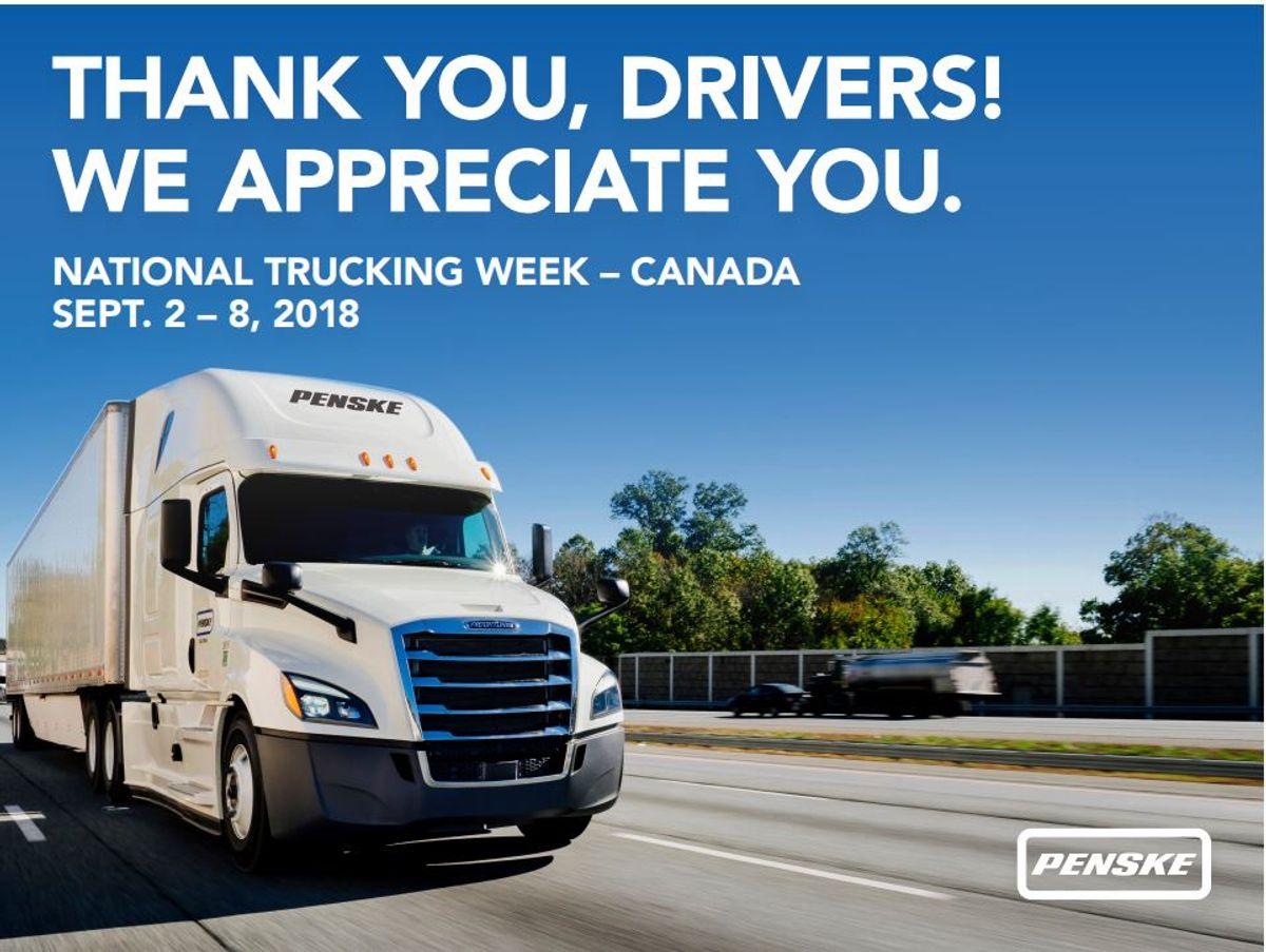 Penske Logistics Honors its Truck Drivers During Canada's National Trucking Week