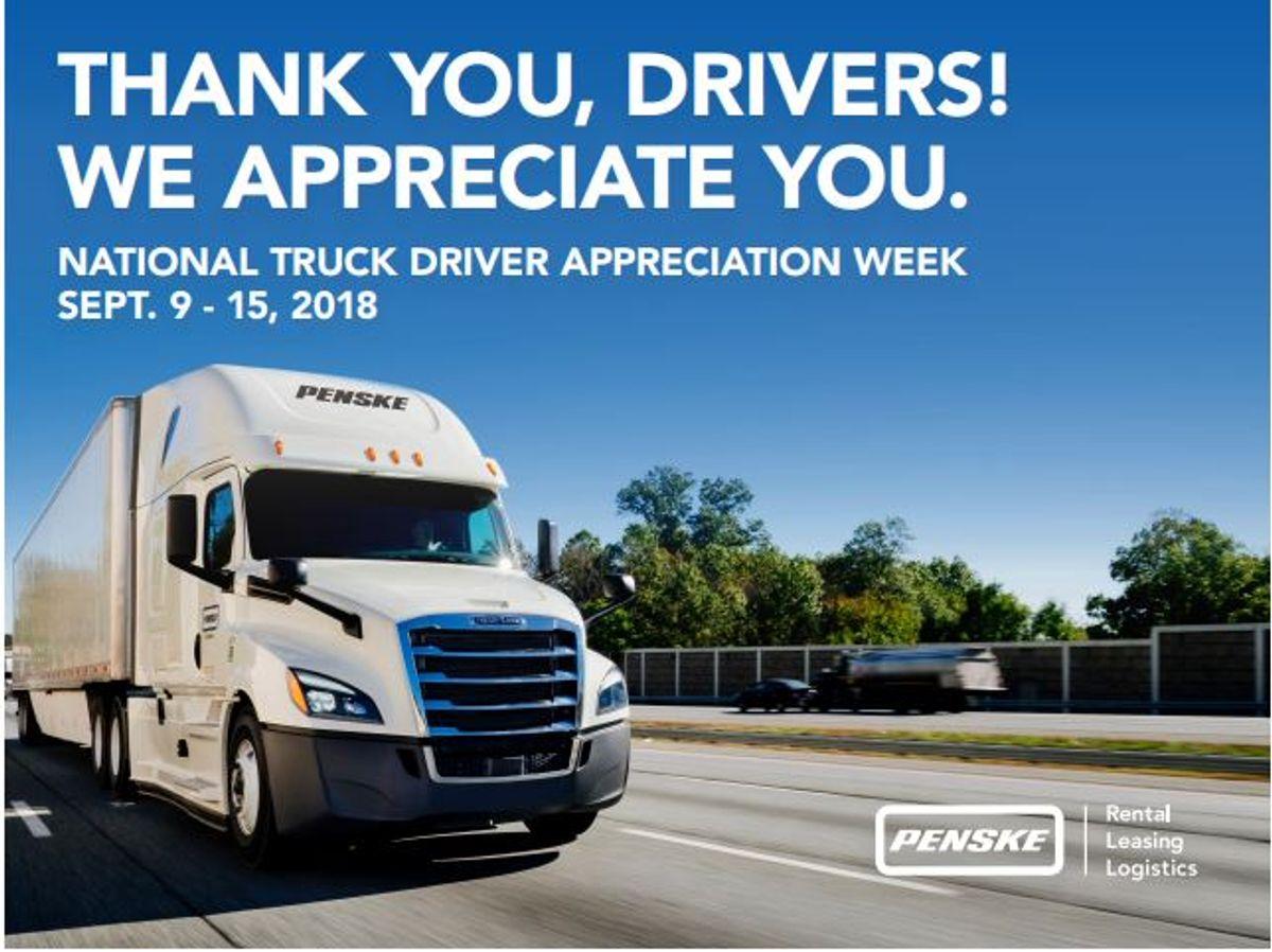 Penske Logistics Honors Drivers During National Truck Driver Appreciation Week
