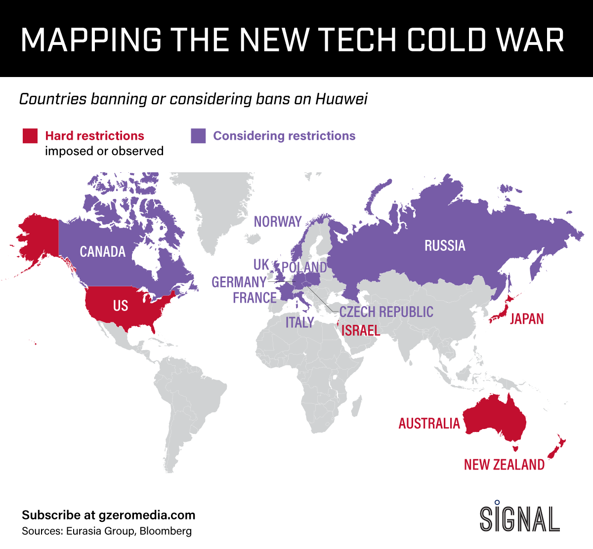 Map Of Germany During Cold War.The Graphic Truth Mapping The New Tech Cold War Gzero Media