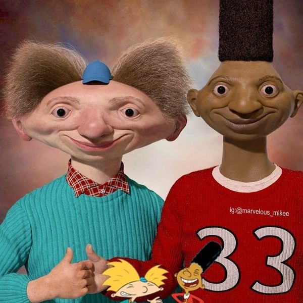 These Realistic 'Hey Arnold!' Characters Will Haunt Your Nightmares