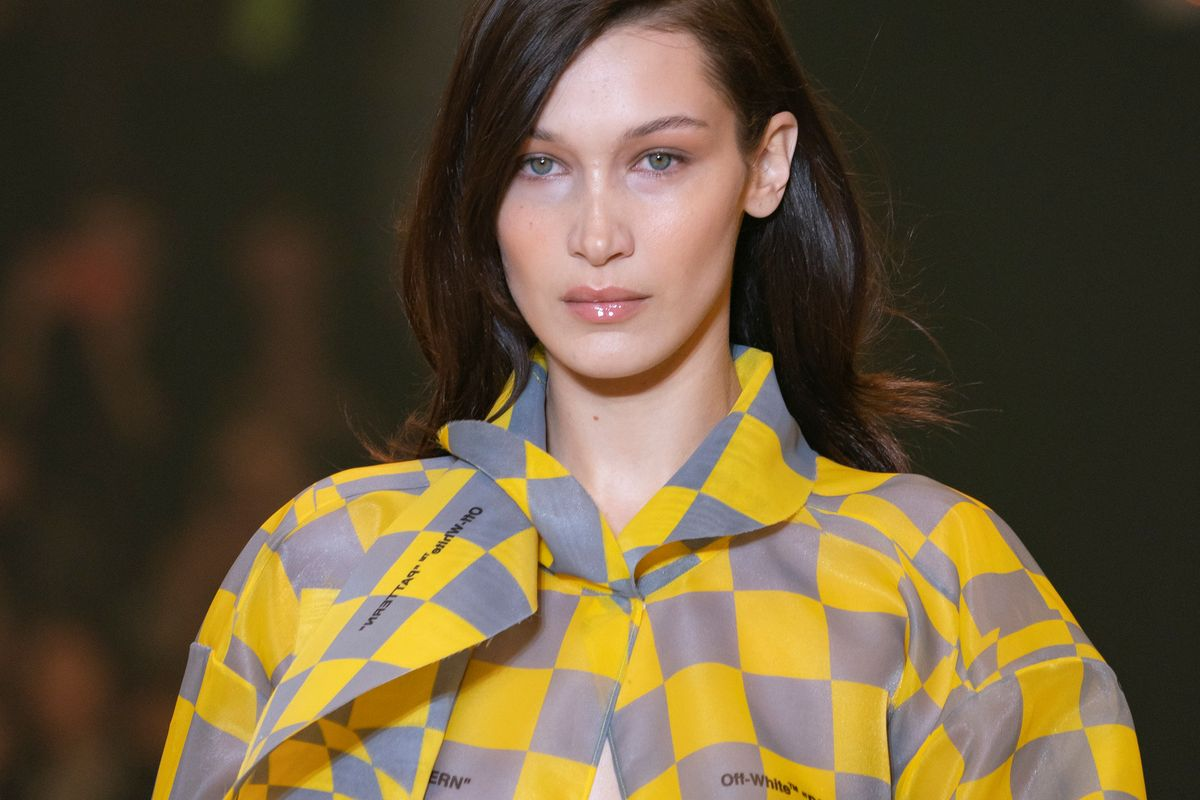 Bella Hadid Walked Off-White's Runway With a 101-Degree Fever