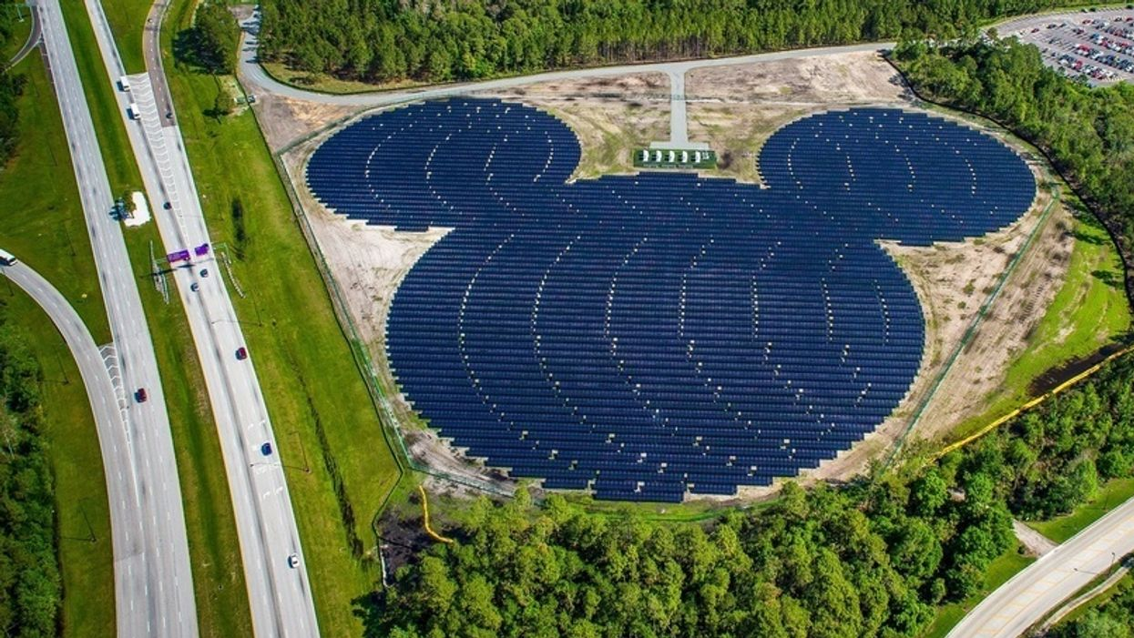 Disney builds massive solar facility to cut emissions in half by 2020