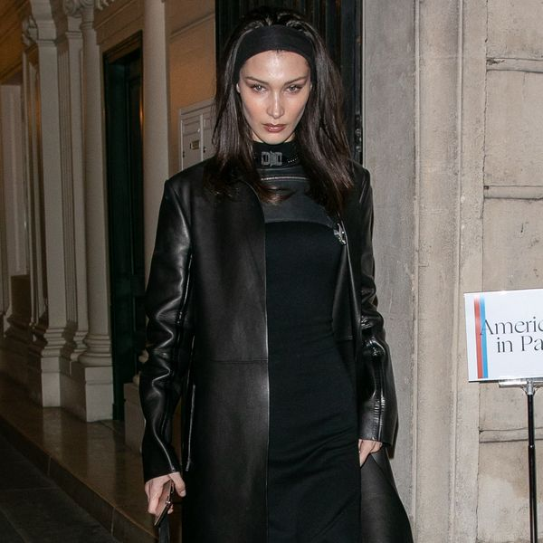 Bella Hadid and All the Models Have Leather Trench Coats