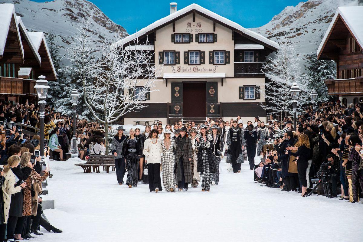 Karl Lagerfeld's Snowy Farewell