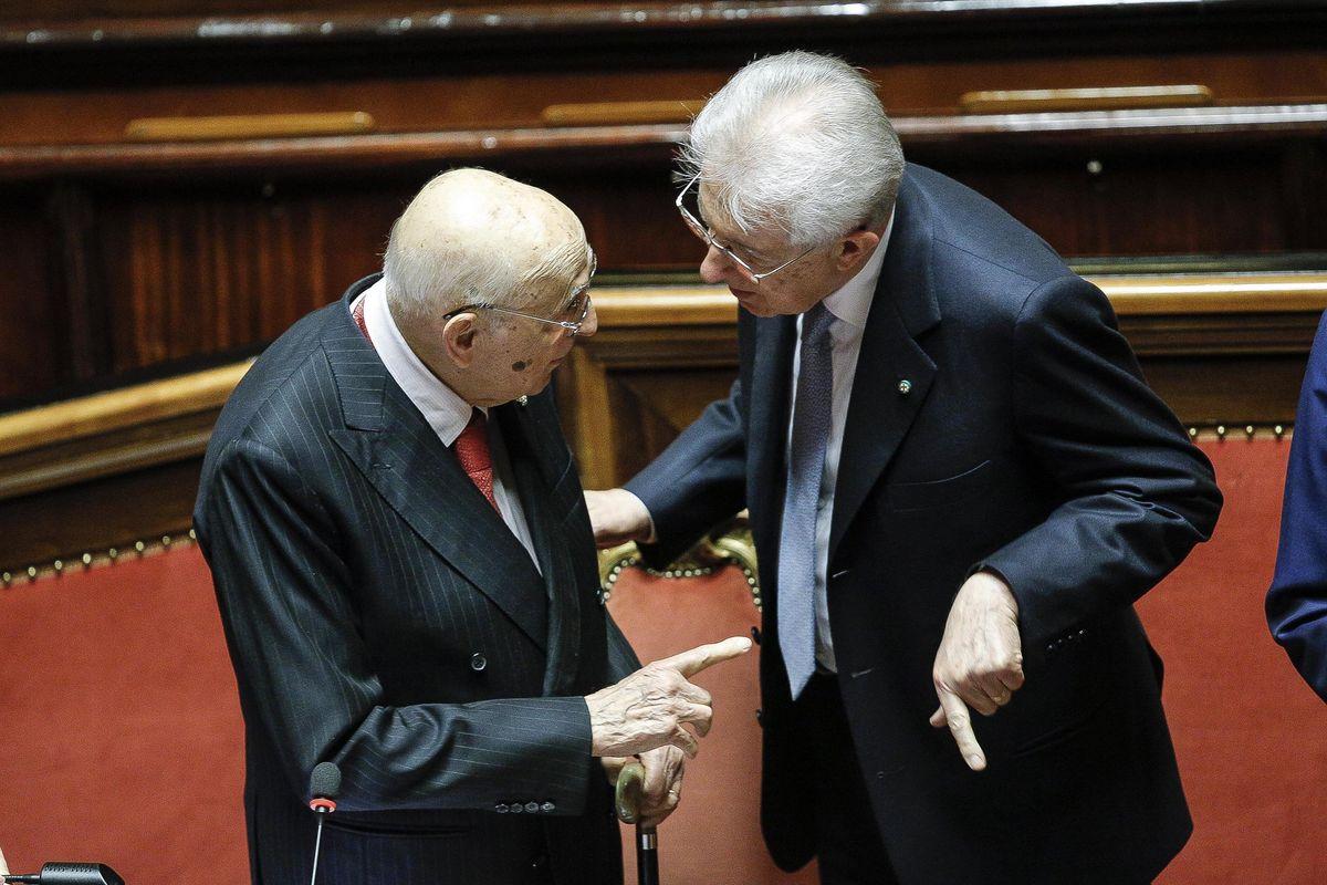 Napolitano e Monti guidano la banda degli assenteisti col gettone in tasca
