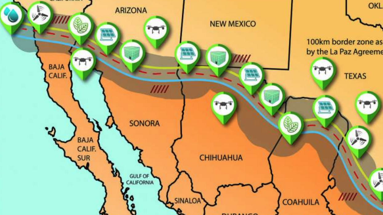 New alternative to Trump's wall would create jobs, renewable energy, and increase border security