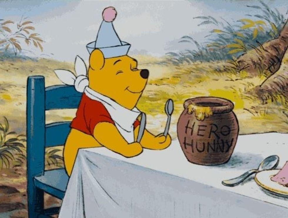 Pooh and jar of honey