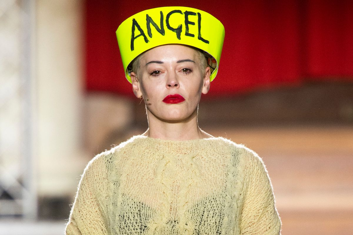 Rose McGowan Spotlights Climate Change at Vivienne Westwood