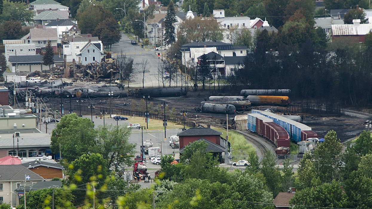 'You Can Smell Crude in the Air': Oil Leaks From Train Derailment in Canada
