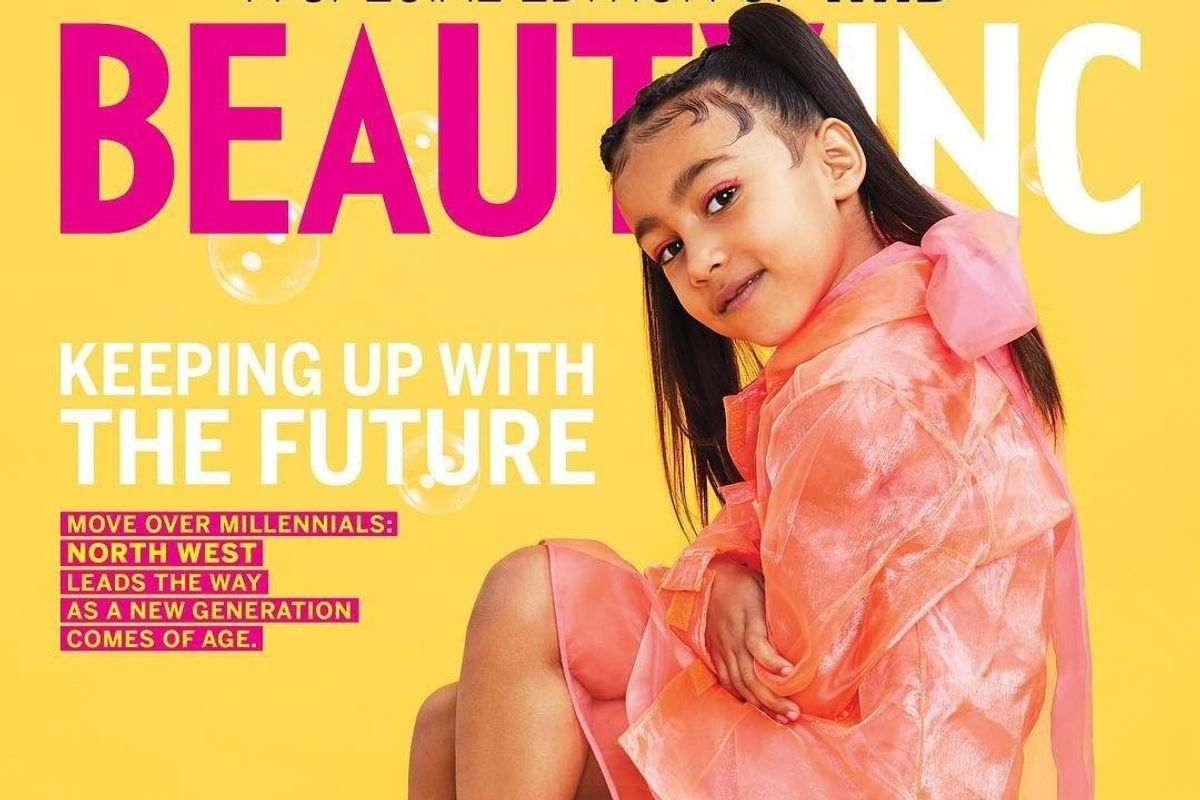 North West Lands Her First Solo Cover on WWD