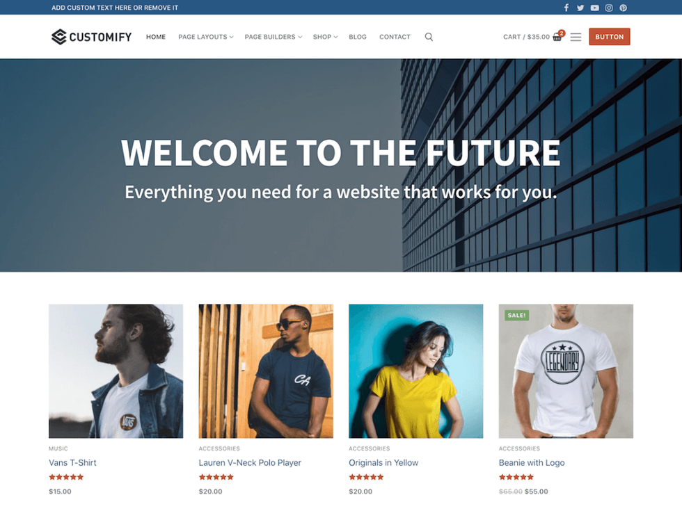 Customify - a free, highly customizable theme