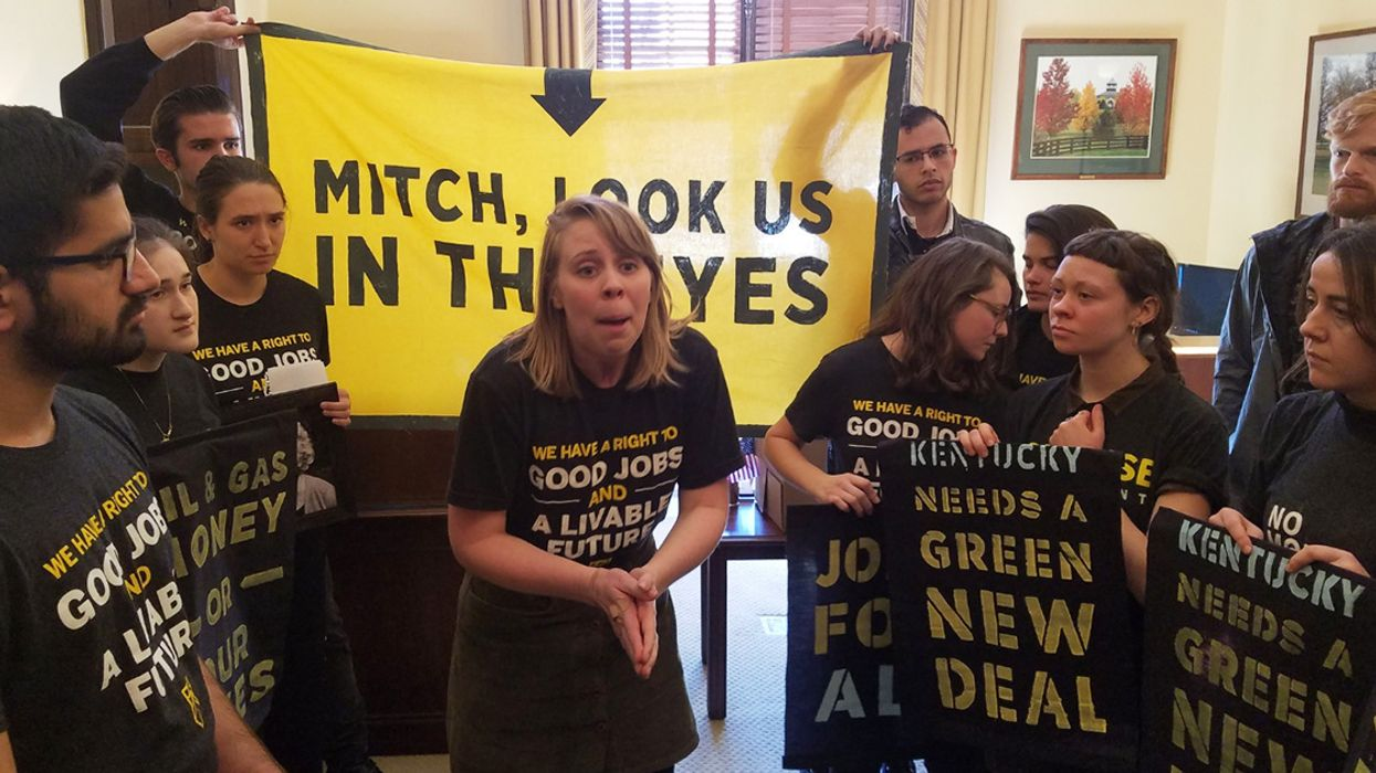 Youth Climate Activists Demanding Green New Deal Arrested for Sit-In at McConnell's Office