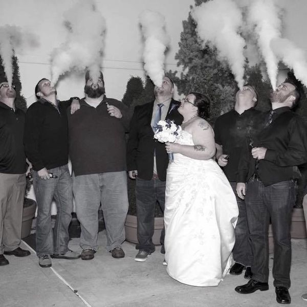 I Want to Marry These Vaping Wedding Photos