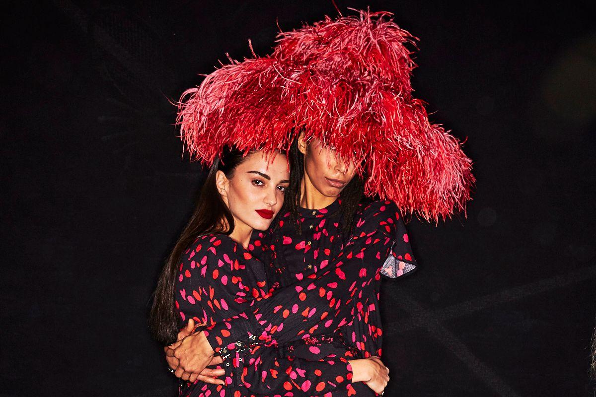 We Love KOCHÉ's Huge Feathery Hats