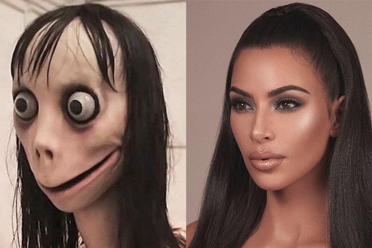 Kim Kardashian Fell for the Momo Hoax