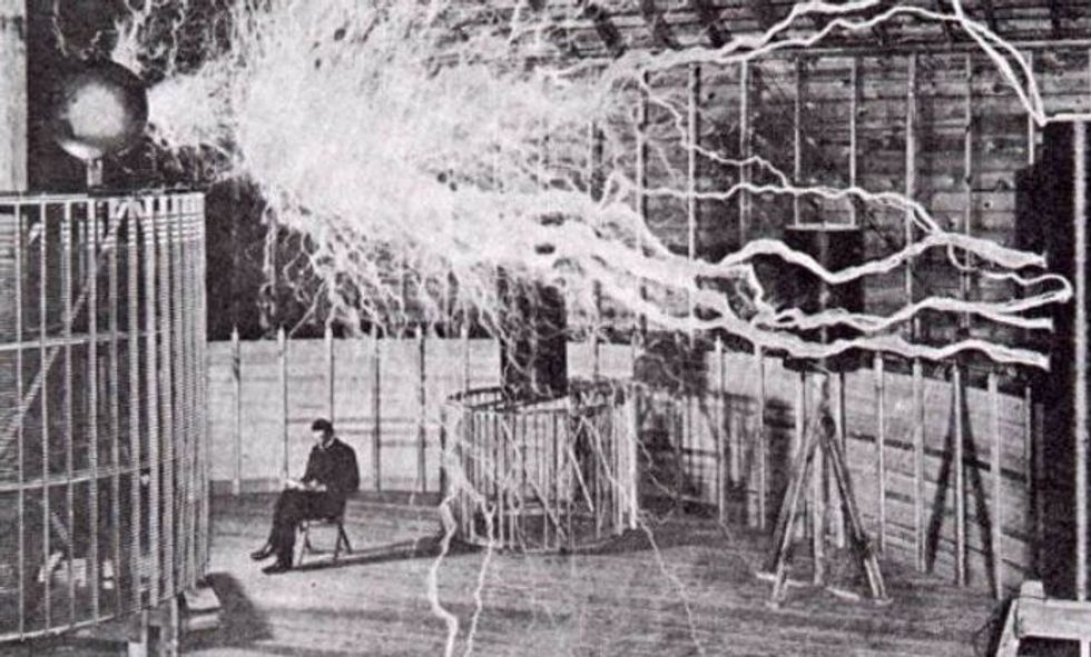 After Tesla thought aliens contacted him, he described his 'encounter' to the Red Cross.