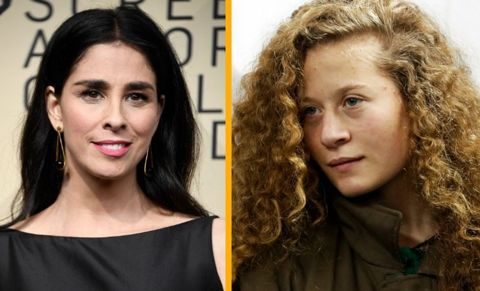 Sarah Silverman got slammed for supporting a Palestinian teen — and she stayed strong.