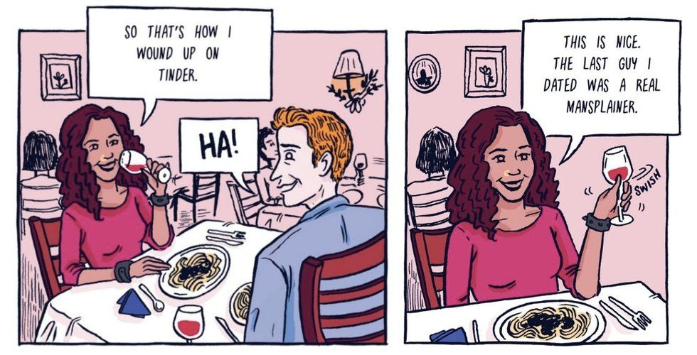 Mansplaining: An awesome comic breaks down the definition — and shares examples. - Upworthy