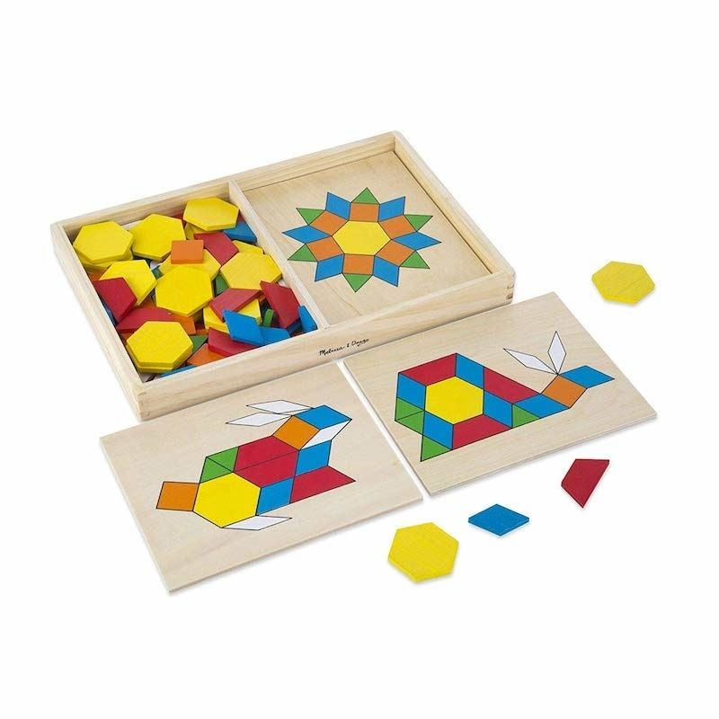 Melissa and Doug pattern block board