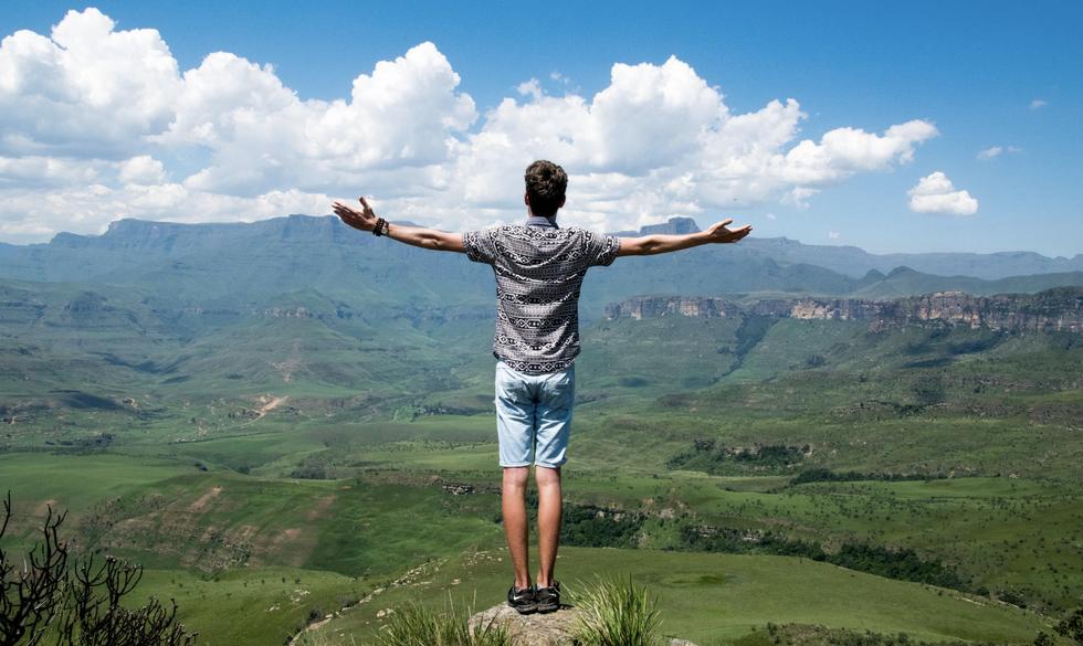 Boy on a Mountain