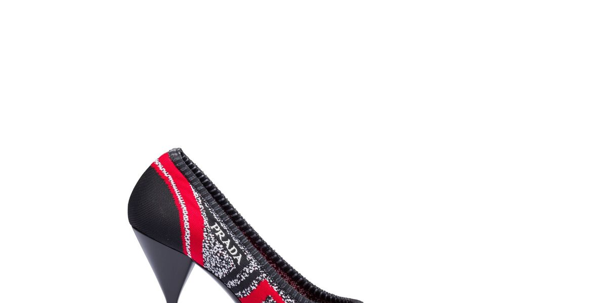 Knit Fabric Pointy Toe Pumps