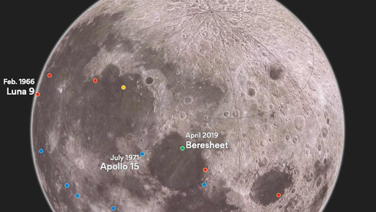 Here's where Israel will land on the moon today