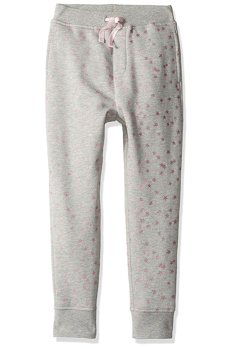 Grey sweatpants with pink stars