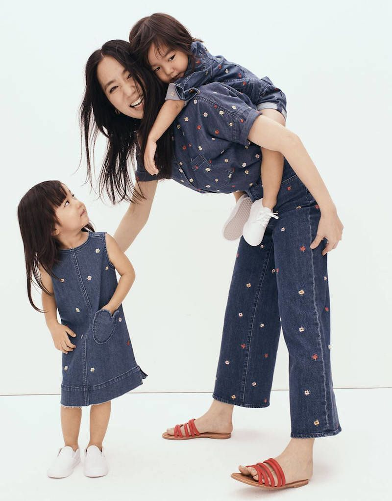 mommy and me matching denim set