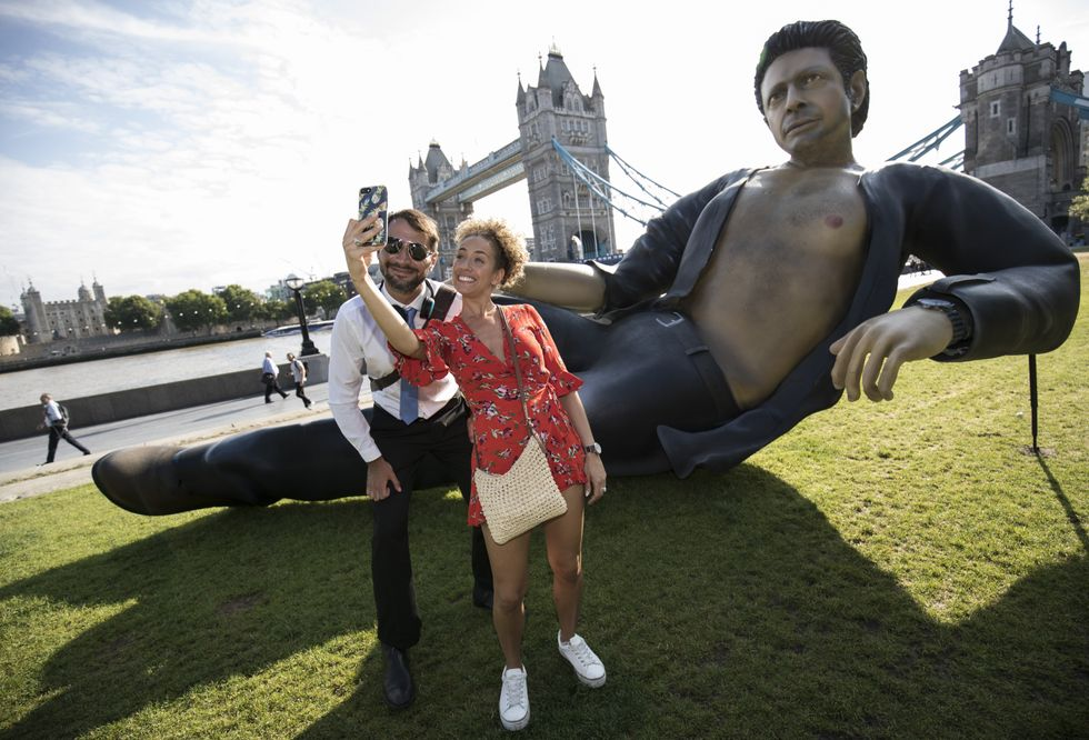 There's a ginormous Jeff Goldblum statue in London. It's as gloriously weird as it sounds.