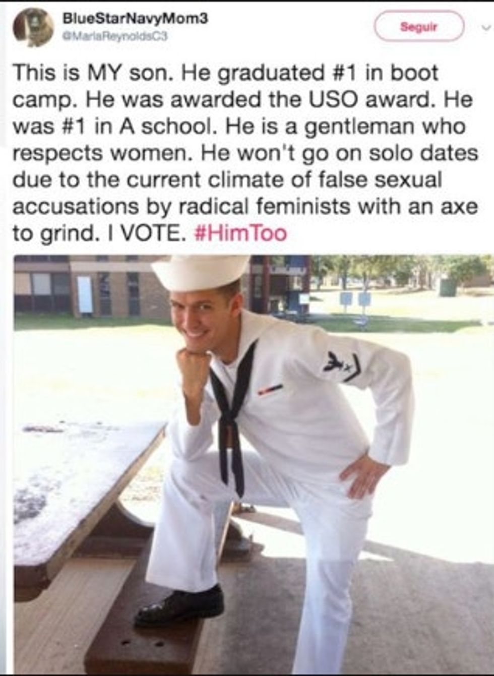 This vet surprised everyone after his Mom turned him into an accidental poster boy for the #HimToo movement.