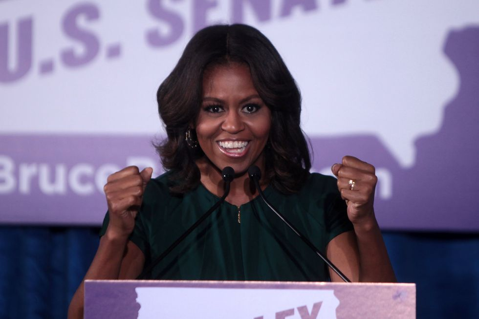 Michelle Obama just returned to politics with an incredibly powerful message.